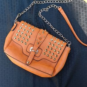 Studded shoulder or crossbody bag